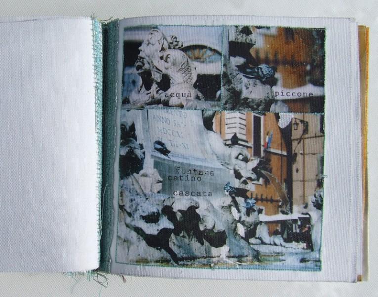 Artists book. 'Roman Holiday' 14cm x 12cm x 3cm 2005