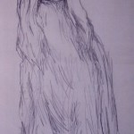 Afghan hound, pencil