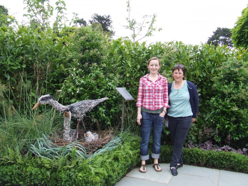 """Ciara and Eileen Nolan , Head Gardener at """" Journey on earth - The Hospice garden"""" at Bloom."""